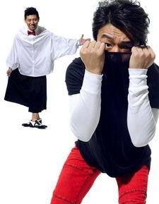 ...体拍写真 时尚服装贴鼻子扮小丑表情搞怪-写真 时尚