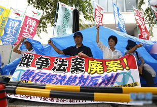 日本民众游行抗议安保法案.(图/新华网)-日本学生深夜包围议会抗...
