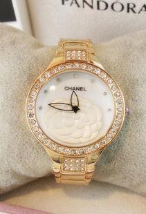 香奈儿同款时尚茶花手表