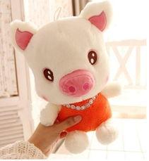创意毛绒玩具可爱猪猪小公仔生日礼物可爱小猪布娃娃玩偶送女生