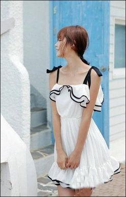 一黑二白15p-15.白+黑的设计,白色的主色系看起来是那么青春、那么活跃、那么淑...