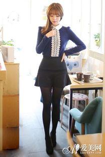 腰呢子裙+黑色丝袜+黑色高跟鞋   爱美网猜你也喜欢: