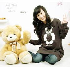 ...妇装 可爱毛绒小熊 孕妇休闲卫衣 外套843