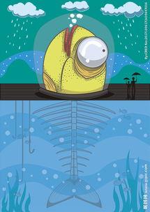 吧鱼鱼集百万潮流动漫-卡通鱼矢量图下载图片