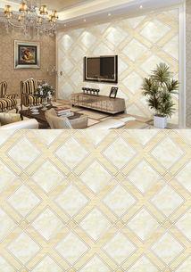 现代简约瓷砖电视背景墙