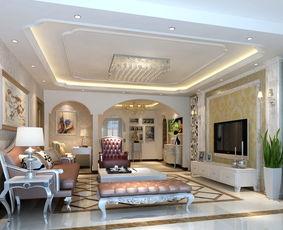 三室两厅装修效果图 140平简约欧式风格设计