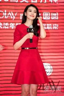 邻家阿姨李袖艳-在代言宣传活动上,高圆圆一袭红色长袖连衣裙又惊艳了多少人,简洁...