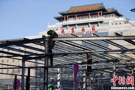 北京西站搭建临时候车厅迎春运