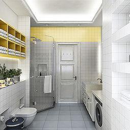 ...欧风格负二层生间装修效果图-北欧卫生间装修图片 北欧卫生间家装...