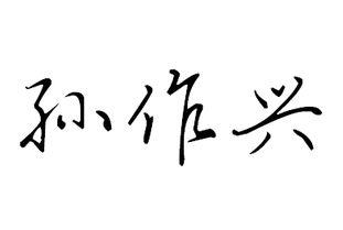 孙作兴的漂亮的艺术签名怎么写