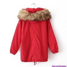 大大大红色厚厚DI棉衣