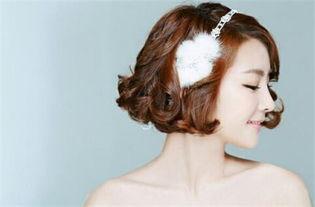 短发新娘怎么拍婚纱照好看 短发怎么做新娘发型