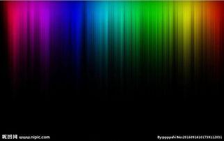 七色彩虹黑底极光图片