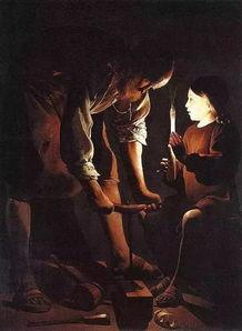 约瑟与幼年耶稣的眼神交流是整幅画作的核心.他温柔的眼神,流露...