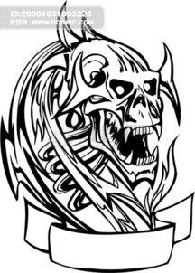 骷髅刺青图片设计素材 高清EPS模板下载 0.03MB daixin分享 人物形象...
