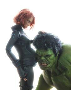 ...同人脑洞大开 绿巨人和黑寡妇才是一对