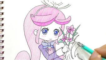小花仙千韩儿童卡通简笔画