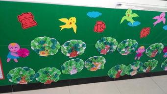 春天主题墙布置图片-感受春天 市幼儿园进行班级主题墙检查
