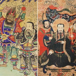,这是四圣中的真武元帅.其余的五尊造像皆着官袍朝服,形容端庄严...