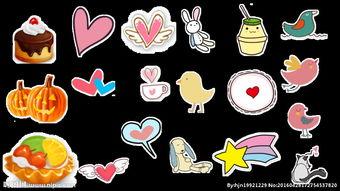 可爱卡通动物小鸟水果蛋糕蔬菜心图片