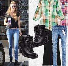 牛仔裤当然是短靴最佳的搭配伙伴-时髦单品 短靴混搭明星范儿 组图