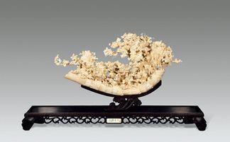 白色金子象牙雕刻 收藏需配证