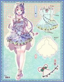 动漫服装设计 参考 素材 少女 萌系 堆糖,美好生活研究所