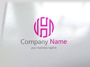 创意字母Hlogo中式霸气标志设计