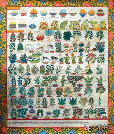 曼唐长卷对草药植物的描画局部   作为中国工艺美术大师和国家级非物...