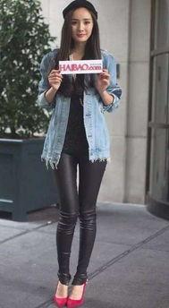 女生皮裤搭配什么上衣好看图片 皮裤搭配上衣图片欣赏