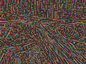 俯视城市-波普线条