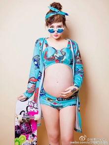 ...网红美女主播@黑暗大美g 晒出怀孕写真照.照片中,大美与老公...