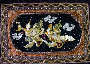 033神话故事挂毯编织纪念品-缅甸的民间工艺纪念品 二 雅泉编辑