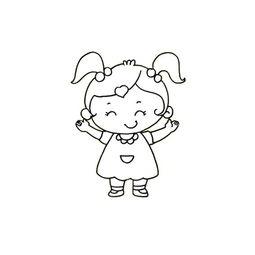 小女孩的简笔画法