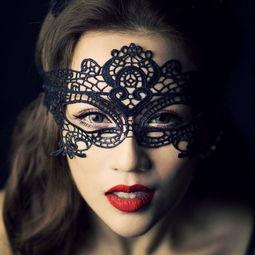 ...主女王蕾丝镂空面具黑色性感情趣眼罩女批发
