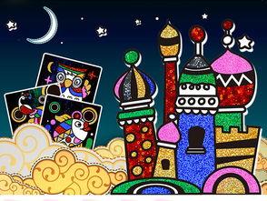 卡通灯笼 diy手工制作材料包儿童生日幼儿园手工灯笼