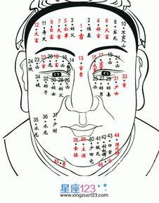 男人脸上痣的位置与命运图7-男痣的位置与命运图