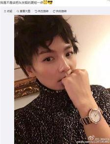 刘涛梳凌乱短发自拍 网友 我喜欢长发的你