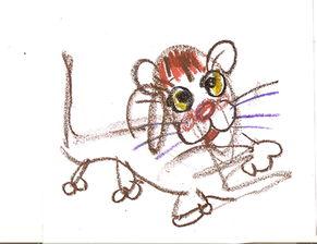 艹猫0补丁krkr2-也许这幅涂鸦并不像真猫,但宝宝想象的猫就是这样的.儿童画的可爱...