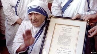 ...故特蕾莎修女为圣人