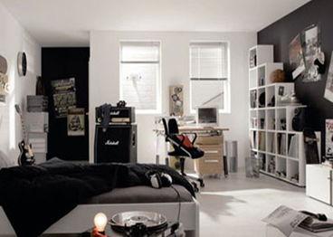 ...图大全2013图片:男生的房间注重的是实用和自在,深色系是不错的...