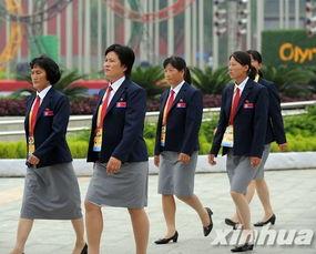 朝鲜代表团在奥运村举行升旗仪式