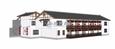 古代客栈古建筑模型