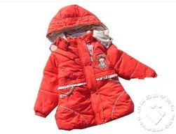 转让全新大红色草莓娃娃加长款棉衣110码,仅48元 已转 福州妈妈 亲...