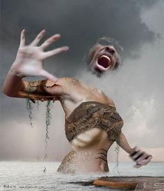 ...hop 合成被魔法师冰封的恐怖恶魔 photoshop 合成玩转地球的女魔法师