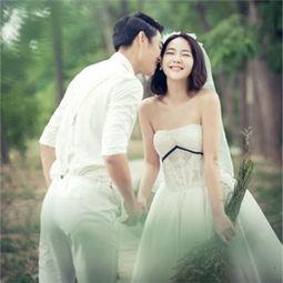 短发新娘拍婚纱照造型 短发拍婚纱照
