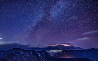 夜空-川西有个四人同,半隐凡间半天堂