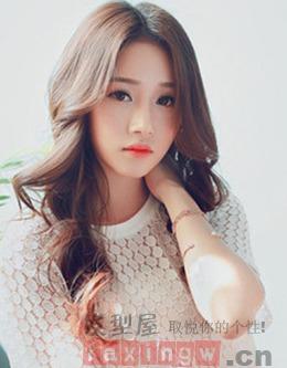 韩版长发烫发发型图片