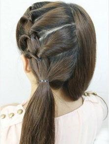 ...年最流行的韩式编发 图解简单辫子编发发型教程
