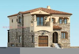 农村自建三层房设计 房子设计图纸 乡村别墅设计图纸 建房效果图